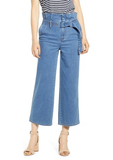 Madewell Paperbag Waist Crop Jeans (Radcliff Wash)