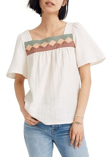 Madewell Patchwork Square Neck Top