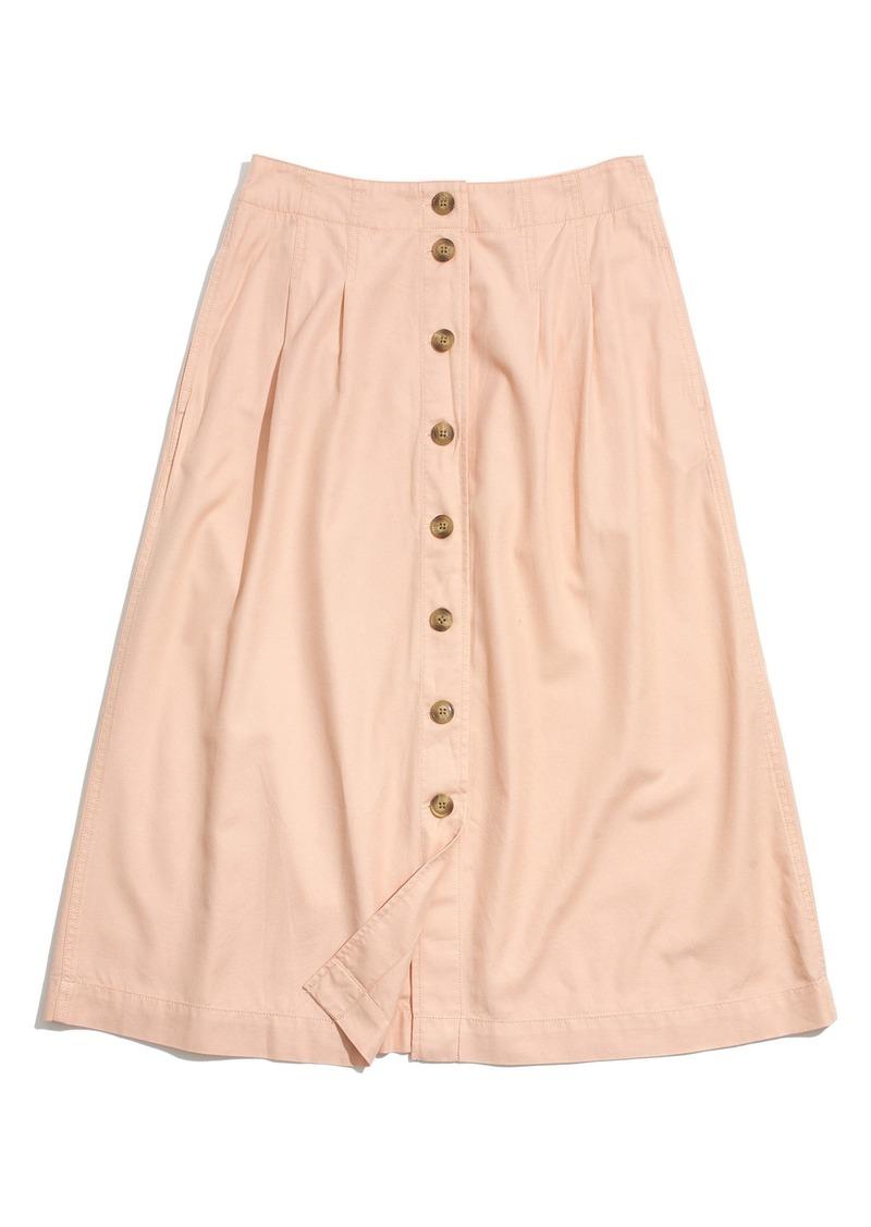 b03335e6d3 Madewell Madewell Patio Button Front Midi Skirt | Skirts