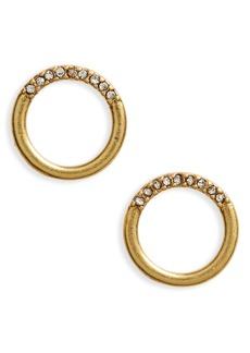 Madewell Pavé Circle Stud Earrings