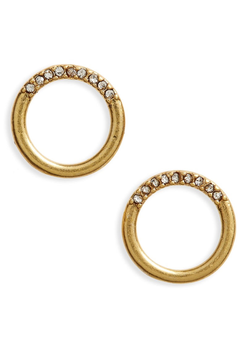 basic stud earrings gold circle snob product