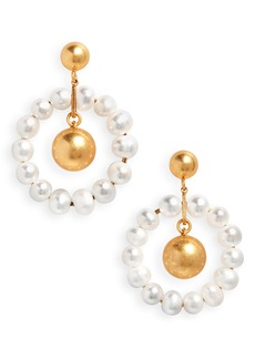 Madewell Pearl Hoop Earrings