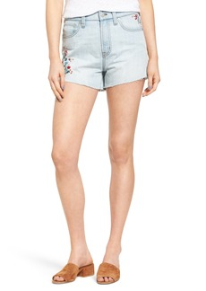 Madewell Perfect Embroidered High Waist Denim Shorts (Willmington Wash)