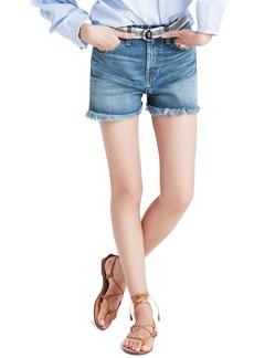 Madewell Perfect High Waist Cutoff Denim Shorts (Cicely Wash)