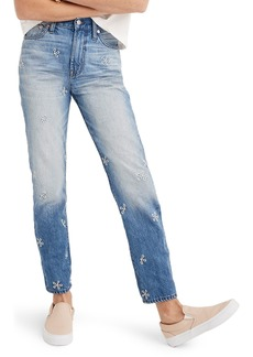 Madewell Perfect Summer Embroidered High Waist Jeans (Wendell Wash)