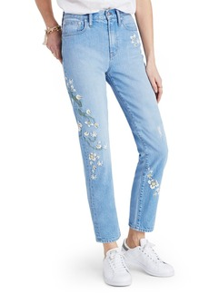 Madewell Perfect Summer High Waist Embroidered Jeans (Constance Wash)
