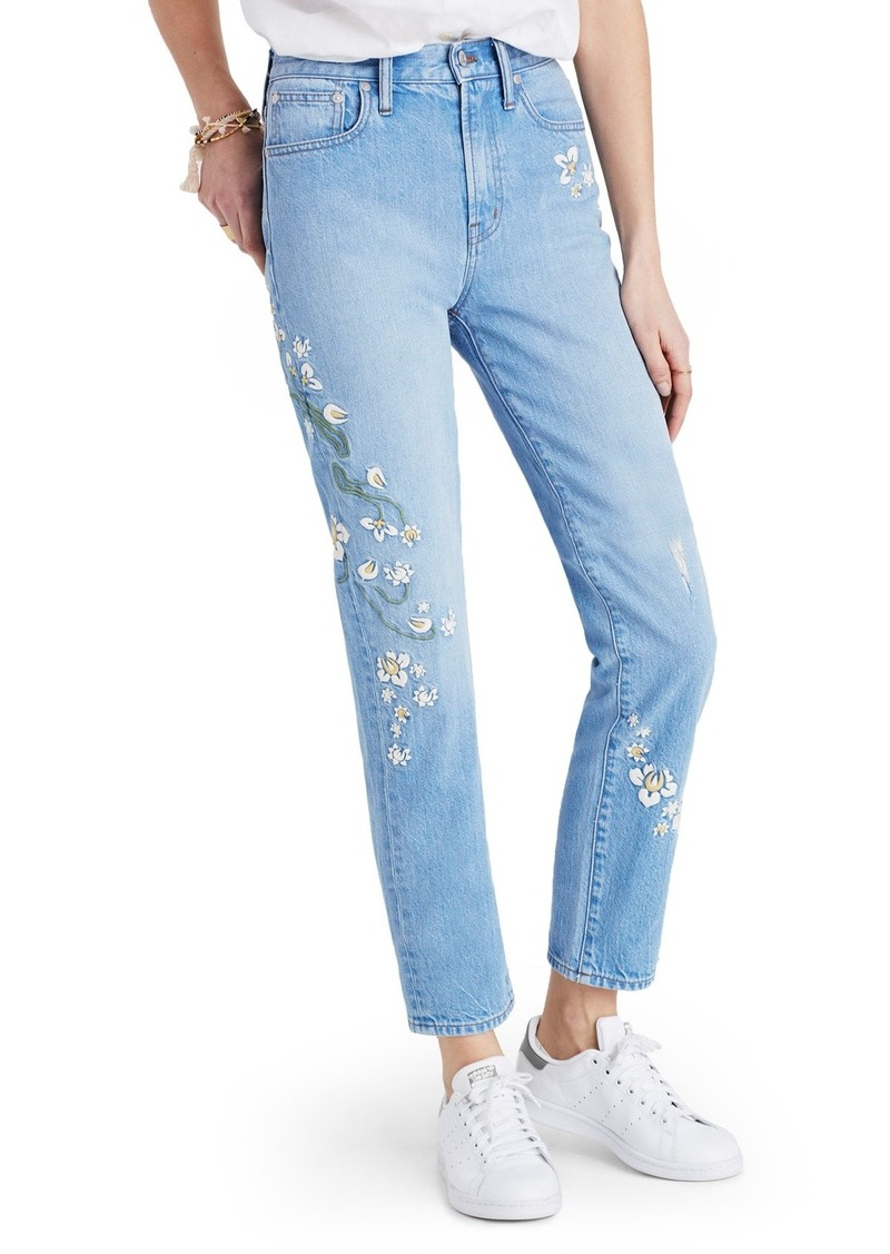 5808929228 Madewell Perfect Summer High Waist Embroidered Jeans (Constance Wash)