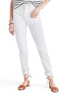 Madewell Perfect Summer High Waist Ankle Jeans (Tile White)
