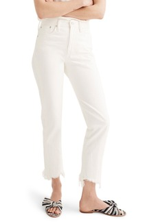 Madewell Perfect Summer High Waist Pieced Jeans (Tile White)