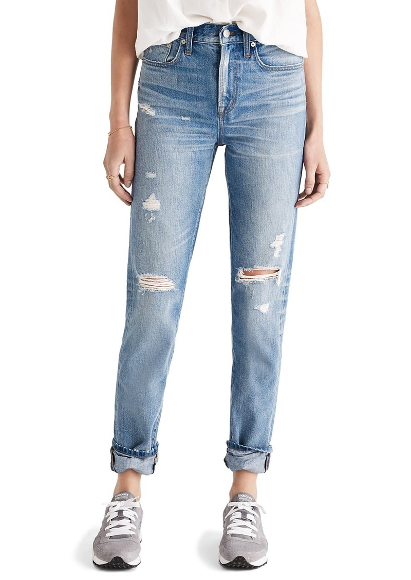 Madewell Perfect Vintage Ripped High Waist Boyfriend Jeans (Chet)