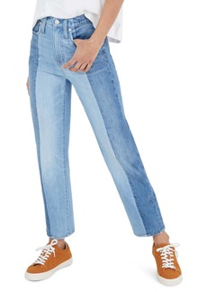 Madewell Pieced Edition Classic Straight Jeans (Clairmont Wash)