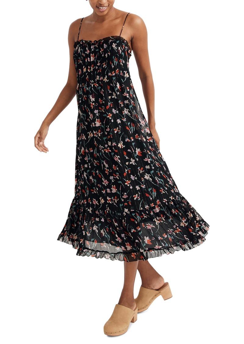 Madewell Pintuck Cami Ruffle Hem Dress