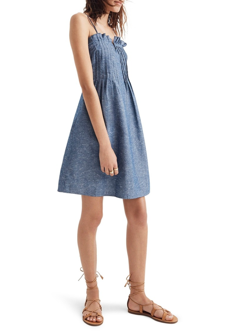 686008fdf0 Madewell Madewell Pintuck Denim Camisole Dress