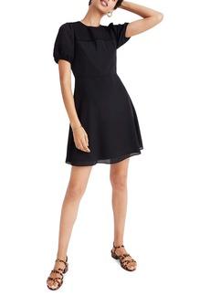 Madewell Pintuck Puff Sleeve Minidress