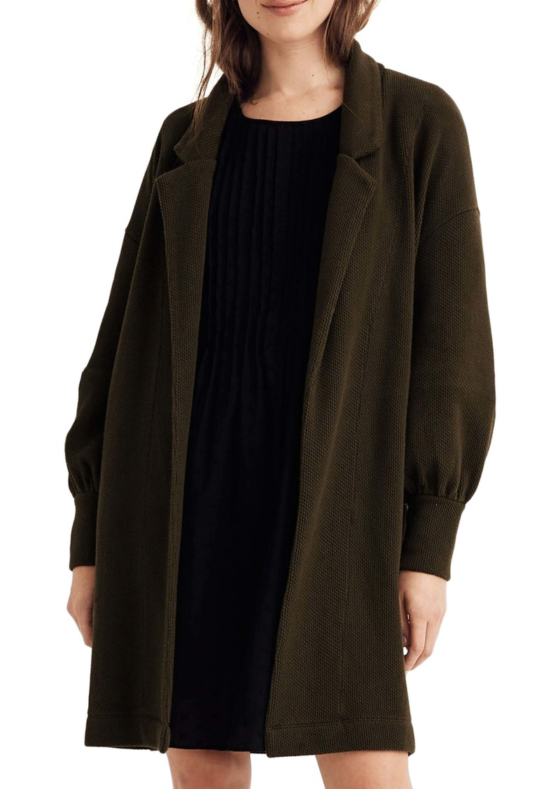 Madewell Piqué Relaxed Cardigan Coat