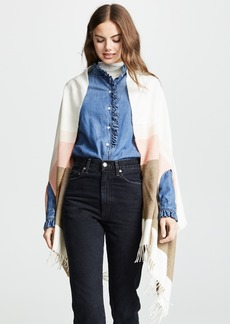 Madewell Placed Stripe Cape Scarf