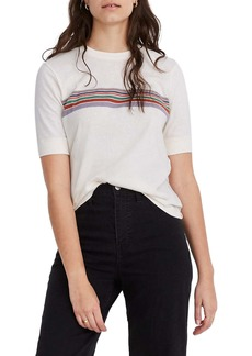 Madewell Placed Stripe Relaxed Recycled Cotton Tee
