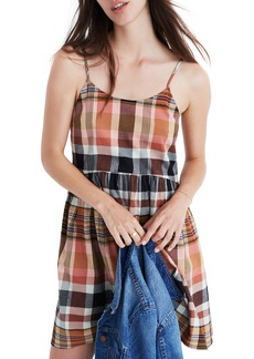 Madewell Plaid Babydoll Cami Dress