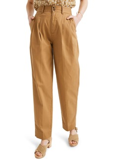 Madewell Pleated Taper Wide Leg Pants