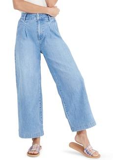 Madewell Pleated Wide Leg Trouser Jeans (Kinnon)