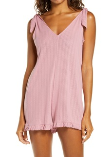 Madewell Pointelle Knit Tie-Strap Pajama Romper