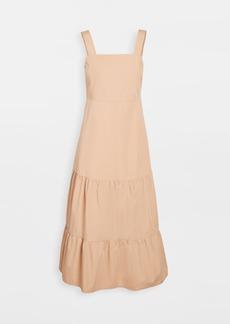 Madewell Poplin Tank Tiered Midi Dress