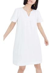 Madewell Popover Pure White Denim Swing Dress