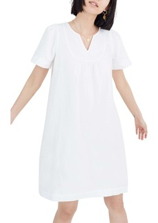 Madewell Popover Pure White Denim Swing Dress