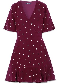Madewell Printed Silk Mini Dress