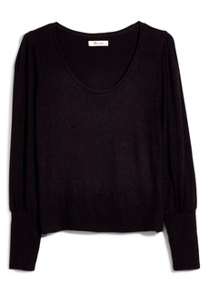 Madewell Puff Sleeve Scoopneck Top