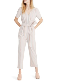 Madewell Puff Sleeve Tapered Jumpsuit