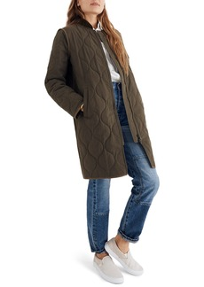 Madewell Quilted Military Coat
