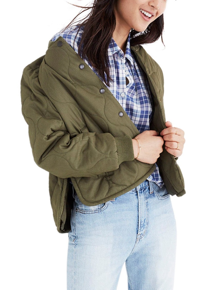 8927031756050 Madewell Madewell Quilted Military Jacket