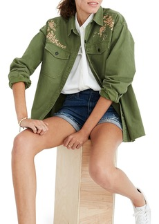 Madewell Rabbit Embroidered Shirt Jacket