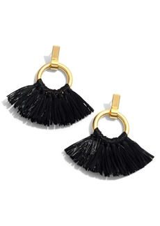 Madewell Raffia Tassel Hoop Earrings