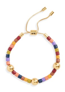 Madewell Rainbow Beaded Slider Bracelet
