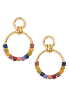 Madewell Rainbow Beaded Statement Hoop Earrings