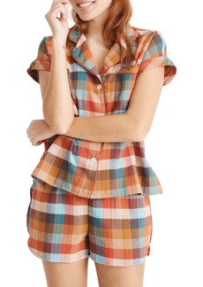 Madewell Rainbow Check Short Bedtime Pajamas