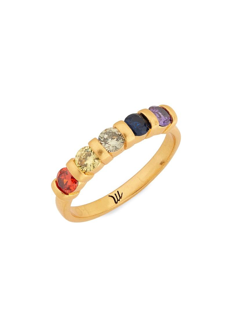 Madewell Rainbow Cubic Zirconia Ring