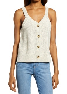 Madewell Rainbow Marl Wakefield Button Front Sweater Tank