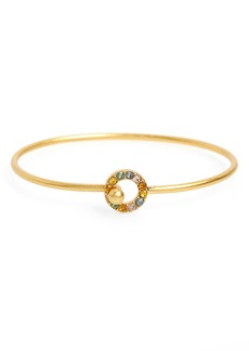 Madewell Rainbow Pavé Bangle Bracelet