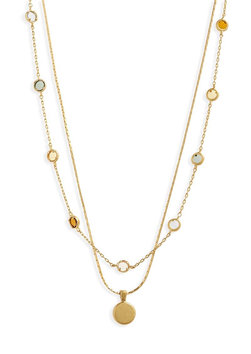 Madewell Rainbow Sparkle Necklace