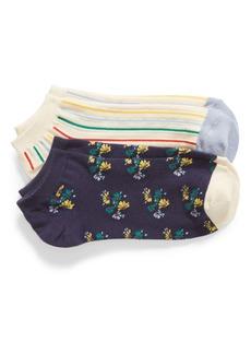 Madewell Rainbow Stripe 2-Pack Ankle Socks