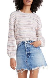 Madewell Rainbow Stripe Bubble Sleeve Crop Top