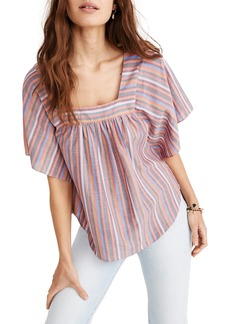 Madewell Rainbow Stripe Butterfly Top