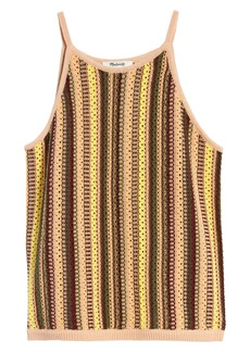 Madewell Rainbow Stripe Janson Crochet Sweater Tank
