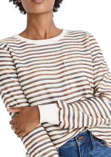 Madewell Rainbow Stripe Long Sleeve Tee