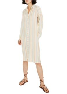 Madewell Rainbow Stripe Long Sleeve Tunic Shirtdress