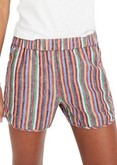 Madewell Rainbow Stripe Pull-On Shorts