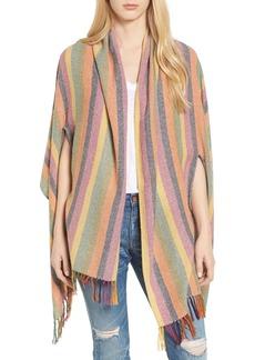 Madewell Rainbow Stripe Silk & Cotton Cape Scarf